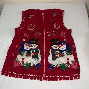 Women's ugly Christmas vest size small
